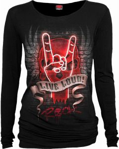 LIVE LOUD - LONG SLEEVE BLACK TOP