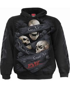 SEE NO EVIL- MEN'S BLACK HOODY
