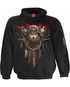 CRY OF THE WOLF - MEN'S BLACK HOODY