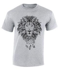 TRIBAL LION - SPORT GRAY T SHIRT