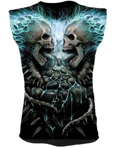 FLAMING SPINE ALL OVER SLEEVELESS T-SHIRT