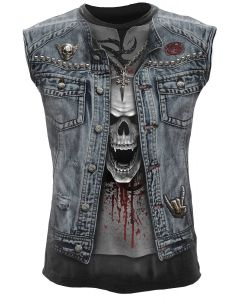 THRASH METAL ALL OVER SLEEVELESS T-SHIRT