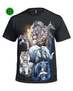 THE ZOO - GLOW IN THE DARK BLACK  T-SHIRT